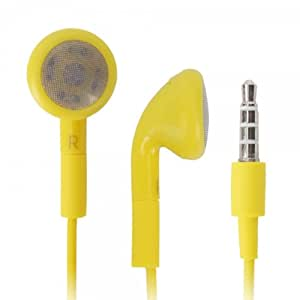 Yellow 3.5mm Stereo Fashion Earphone Headsets with Microphone for Samsung Focus Flash (By Things Needed)