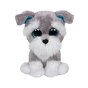 Ty Beanie Boos Whiskers The Grey Schnauzer Dog Plush - 41evpHBHdSL - Ty Beanie Boos Whiskers The Grey Schnauzer Dog Plush