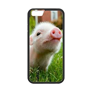 "Iphone6 4.7"" 2D DIY Hard Back Durable Phone Case with Piggy Image"
