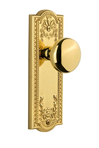 (Grandeur Parthenon Plate with Fifth Avenue Knob, Single Dummy, Polished Brass)