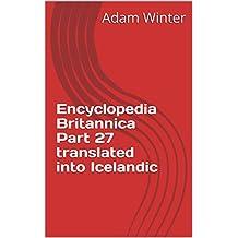 Encyclopedia Britannica Part 27 translated into Icelandic (Icelandic Edition)