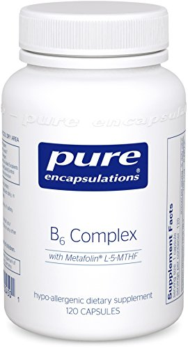 - B6 Complex - Hypoallergenic Dietary Supplement with Metafolin L-5-MTHF - 120 Capsules ()