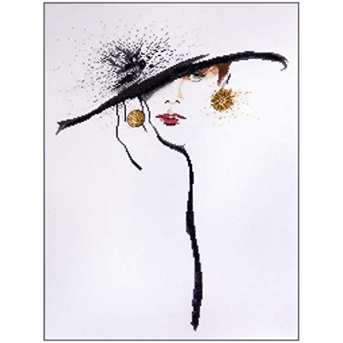 Design Works - Black Hat (2554) - Counted Cross Stitch Kit - 13 by 17 inches - with Gift Card