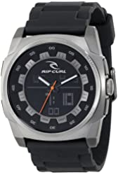 """Rip Curl Men's A2719 """"KAOS GUNMETAL"""" Stainless Steel Watch with Black Band"""