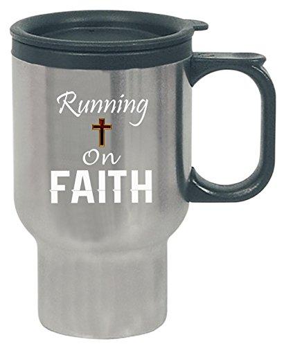 Cross Running On Faith Classy Love - Follow God Design - Travel (Follow Mug)