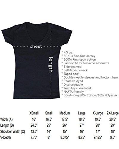 Shop4Ever® Hands UP Don't SHOOT! Women's V-Neck T-shirt Michael Brown Shirts SLIM FIT