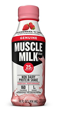 Muscle Milk Genuine Protein Shake, Strawberries 'N Crème, 25g Protein, 14 FL OZ, 12 count