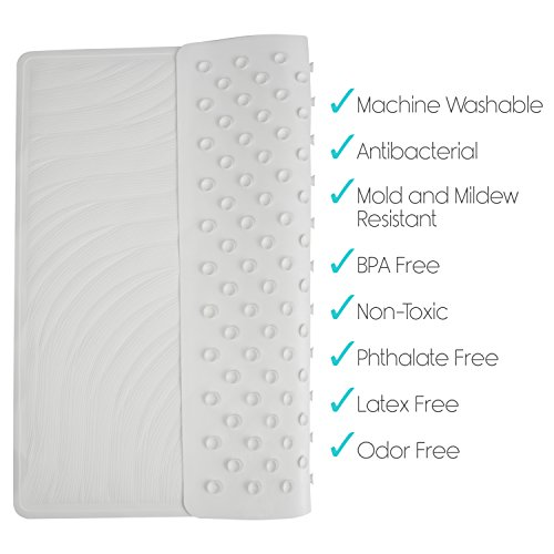 Shower Mat By Vive Square Bath Mats With Drain Hole