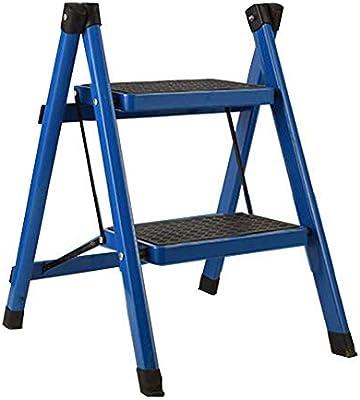 Para Escaleras, Multiusos De Aluminio Escalera Plegable, Paso 2 58cm Altos Tres Tipos De Colores (Color : Blanco): Amazon.es: Bricolaje y herramientas