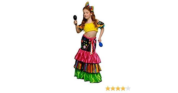 DISFRAZ SALSA NIÑA - TALLA 10-12 AÑOS: Amazon.es: Ropa y accesorios