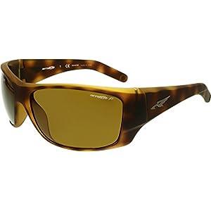 Arnette Men's Heist 2.0 0AN4215 Polarized Rectangular Sunglasses, FUZZY HAVANA, 66 mm