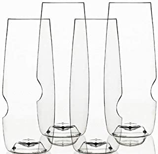 product image for Govino 8 Ounce Dishwasher Safe Series Flute Glasses,Champagne Set of 4