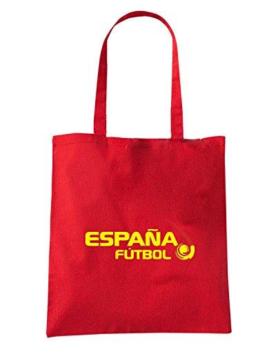 T-Shirtshock - Bolsa para la compra WC0109 ESPANA SPAGNA SPAIN Rojo