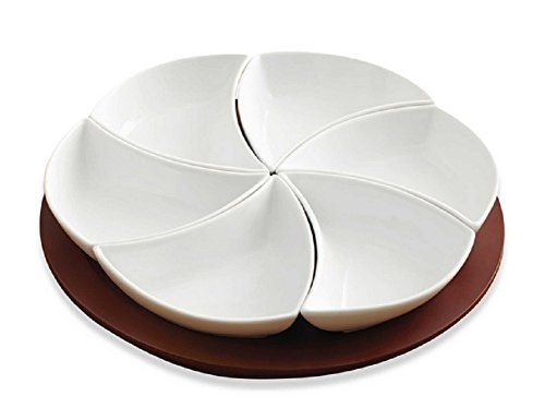 - 7 Piece Multipurpose Swirl Style Lazy Susan Serving Tray