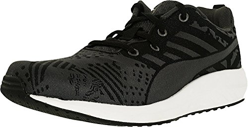 Puma Women's Flare Woven W Black/Periscope/White Ankle-High Synthetic Tennis Shoe – 7.5M