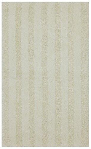 Mohawk Basic Stripe Antique White Plush Striped Washable Bath Mat, 20x34, White by Mohawk Home