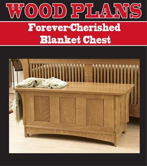 (FOREVER CHERISHED BLANKET CHEST WOODWORKING PAPER PLAN PW10043)
