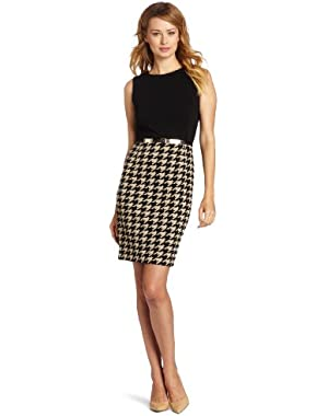 Calvin Klein Women's Houndstooth Twofer Dress