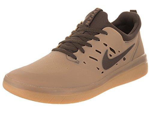 Nike Mens Sb Nyjah Pattino Scarpa Gratis Gomma Marrone Scuro / Marrone Barocco
