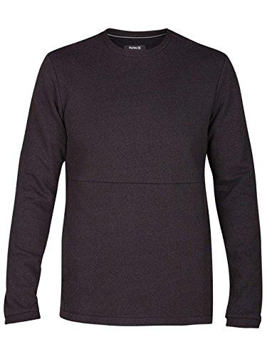 Hurley Men's Bayside Long Sleeve Crew Neck Kangaroo Pocket Soft , Black/Black, XX-Large ()