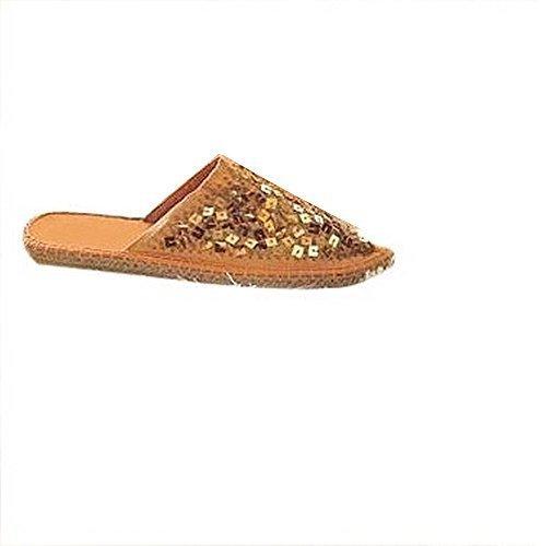 Ashley Brooke - Zapatillas de Estar Por Casa Mujer - - Apricot