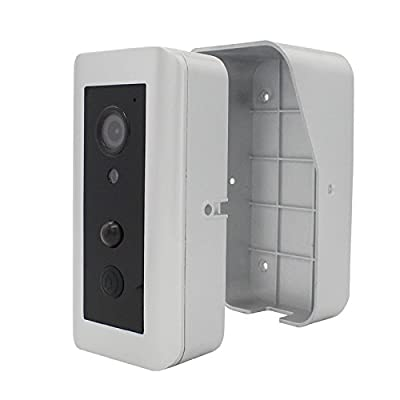 WiFi Video Doorbell Sourcingbay Wireless HD Smart Real Time Visual Intercom Door Camera with Motion Sensor, PIR Alarm, Night Vision, Battery Powered, App Supported(Silver)