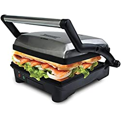 Courant CPP-4140 4-Serving Panini Press and Sandwich Griddler with Non-stick Coated Plates - Indoor Grill