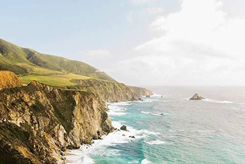 - Big Sur Ocean Wall Art California Coastline Travel Print Landscape Photography Blue Home Decor