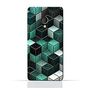 AMC Design Alcatel U5 4G TPU Silicone Protective case with Cubes Design