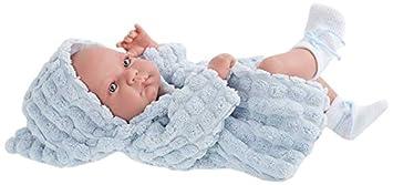 Antonio Juan - nico, muñeco recién Nacido con Albornoz ... - Amazon.es