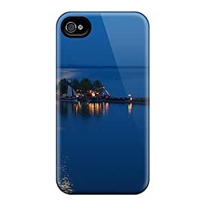 High-quality Durability Case For Iphone 4/4s(reastaurant On A Lake Pier At Night)