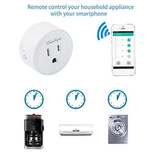 Smart Plug Socket, ChiHope WIFI Mini Outlet,Compatible with
