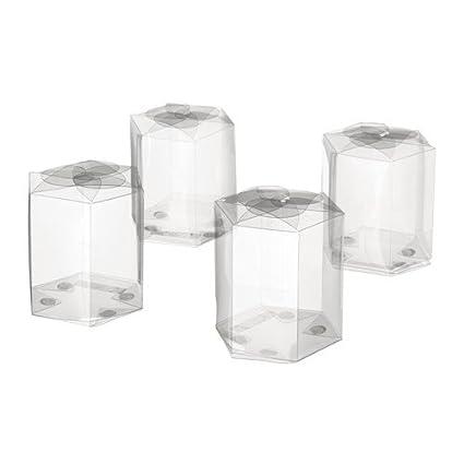IKEA GIVANDE - Caja de regalo para el caramelo transparente paquete de 4
