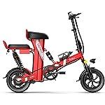 41evuUpcL9L. SS150 JXH Folding Mountain Bike per Freni a Disco Doppio per Adulti 48V 8AH Montagna Bicicletta elettrica e, con Display LED…