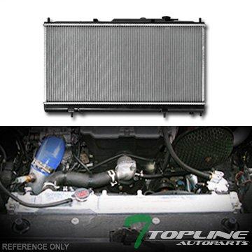 Topline Autopart Aluminum Core Replacement Radiator Cooler For AT Automatic MT Manual Transmission 01-05 Chrysler Sebring/00-05 Mitsubishi Eclipse 2.7L 3.0L V6 Engine DPI 2410 Chrysler Sebring Koyo Radiator