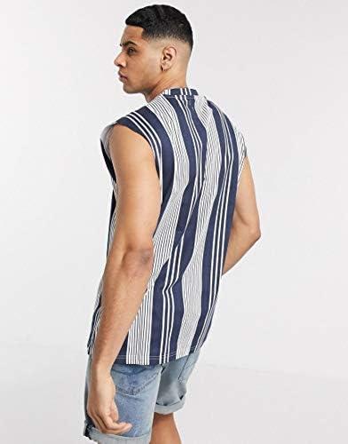 アナザーインフルエンス タンクトップ ノースリーブ アームホール メンズ Another Influence sleeveless t-shirt vest in str [並行輸入品]