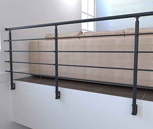 Kit Secundo 100 cm Kit complet garde-corpsPr/êt-/à-monter Sogem Rondo RAL 7016 S 100/% Aluminium