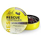 Bach Rescue Pastilles Natural Stress Relief,  Black Currant, 1.7 oz