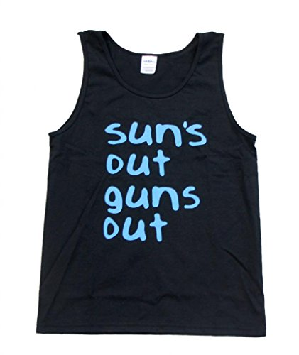 22 Jump Street Sun's Out Guns Out Black Tank (Adult Large)