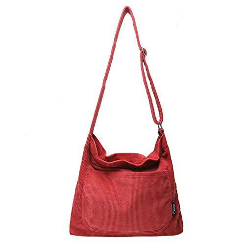 LHKFNU Corduroy Solid Shoulder Bags Corduroy Shopping Bag Tote Bags Crossbody Casual Handbag Bags for Women