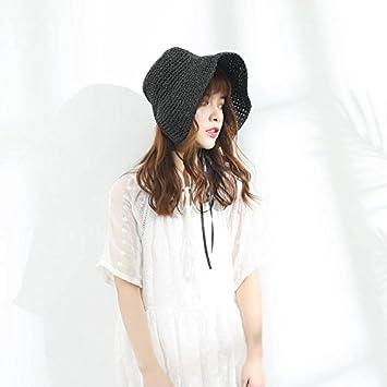 Xing Han Sombrero De Sol Para Mujer Sombrilla De Playa Verano Sombrilla Sombrero Femenino Japonés Pequeña Fresca Plegable Protector Solar Mano Tapa De ...