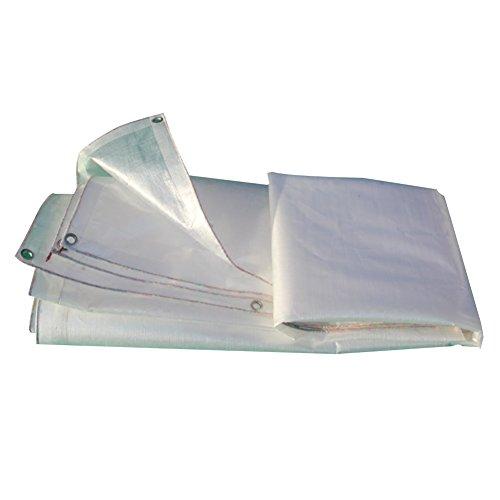 GLJ Plastikplanen-LKW-Plane, Die Imprägniern Transparente Schirmplane des Sonnenschutzstoffs des Sonnenschutzes Im Freien Verdickt Plane (Farbe   Weiß, größe   3x4m)
