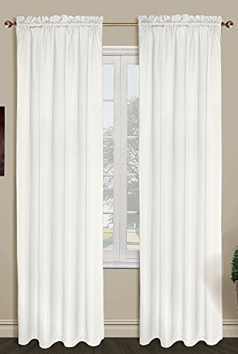 United Curtain Sterling Woven Window Curtain Panel, 40 by 84-Inch, Oyster