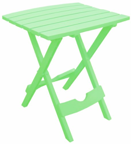 Green Adirondack End Table - Adams Manufacturing 8500-08-3700 Plastic Quik-Fold Side Table, Summer Green