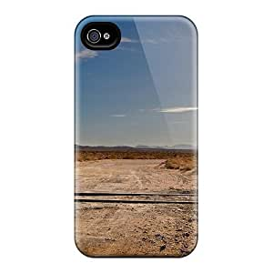 Iphone Case - Tpu Case Protective For Iphone 4/4s- Railroad Crossing In The Middle Of Nowhere