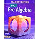Pre-Algebra, Holt, Rinehart and Winston Staff, 0030696119