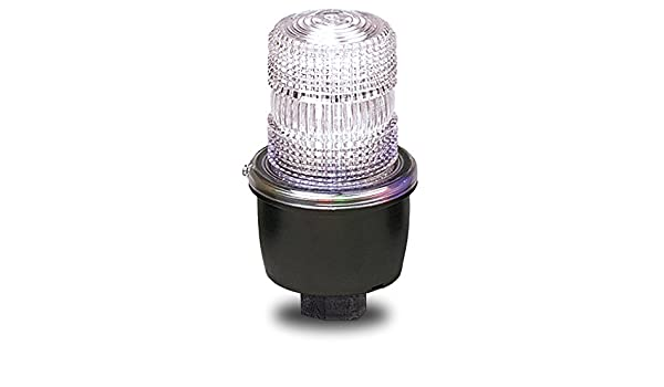 120 VAC Clear Federal Signal LP3P-120C Streamline Low Profile Strobe Light Pipe Mount