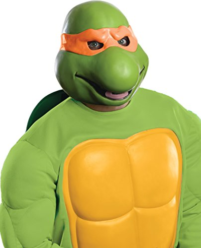 [Nickelodeon Teenage Mutant Ninja Turtles Adult Michelangelo 3/4 Mask, Green, One Size] (Ninja Costume Man)