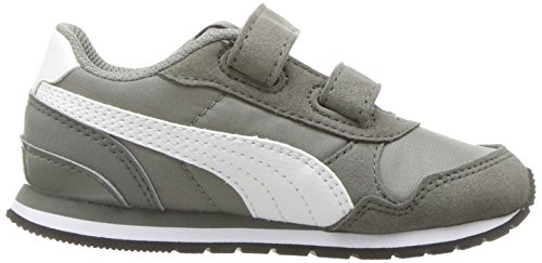 PUMA Baby ST Runner NL Velcro Kids Sneaker, Rock Ridge White, 8 M US Toddler