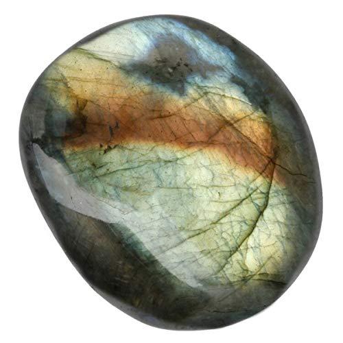 SUNYIK Labradorite Tumbled Irregular Massage Palm Stones Worry Pocket Stone 1.5